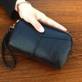 新款日韓時尚手拿包女大容量貝殼包拉鏈手抓包零錢包女包「爆米花」