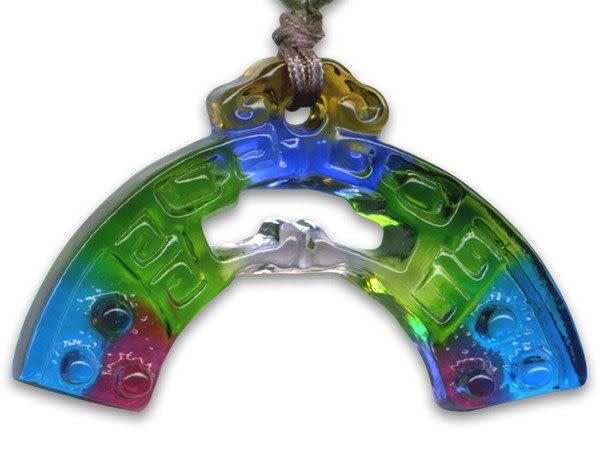 鹿港窯~居家開運水晶琉璃項鍊~螭龍◆附精美包裝◆免運費送到家
