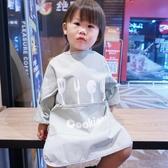 兒童畫畫衣 兒童防水反穿衣寶寶吃飯衣加長加大圍兜畫畫圍裙長袖秋冬罩衣【星時代女王】