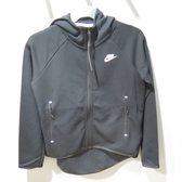 Nike NSW TCH FLC CAPE 連帽外套 前短後長 寬鬆版女款 BV7566010 黑【iSport愛運動】