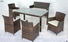 【南洋風休閒傢俱】戶外休閒桌椅系列-復古休閒餐桌椅組 戶外餐桌椅組 (HT-702)