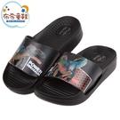 《布布童鞋》DINOSAUR史前恐龍黑色兒童輕量拖鞋(16~22公分) [ M0T718D ]