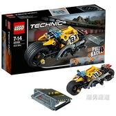 積木機械組42058特技摩托Technic積木玩具xw