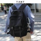後背包書包女大容量中學生初中生黑色男工裝大學生雙肩包2020年新款 COCO