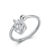 925純銀戒指 鑲鑽-時尚魔方生日情人節禮物女配件73an63【巴黎精品】