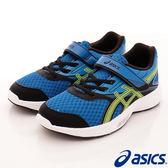 【ASICS】運動童鞋-雙網流線運動款藍-725N-4507(中童)