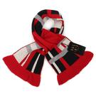 DAKS經典格紋雙面拼色羊毛圍巾(紅黑色)239337-4