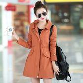 連帽大衣-時尚流行顯瘦中長版女風衣外套4色73iz65[時尚巴黎]