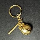 木魚 鈴鐺 掛飾 吊飾 鑰匙圈(金色)