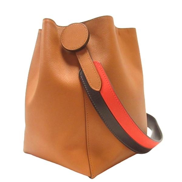 HERMES 愛馬仕 棕色牛皮馬缰套索造型肩背包 水桶包 Licol Hermes 17 【BRAND OFF】