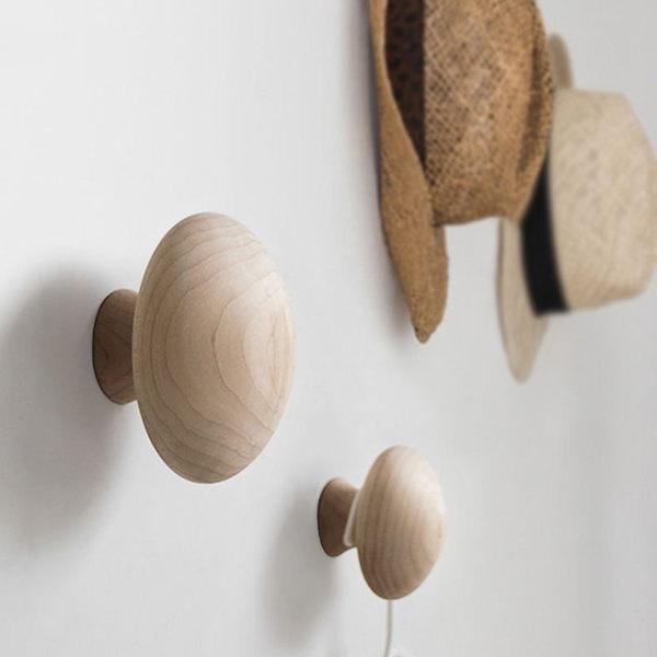 《7color camera》小款北歐蘑菇香菇造型楓木實木 創意壁掛 衣掛 掛鉤 衣服 掛勾 衣架 衣帽架 衣帽勾