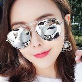 新款偏光太陽鏡女潮網紅墨鏡圓方臉蛤蟆鏡JK126『樂愛居家館』