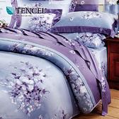 【貝兒居家寢飾生活館】100%天絲全鋪棉床包兩用被四件組(雙人/夢想花語)
