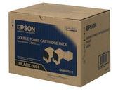 S050594 EPSON 原廠黑色碳粉匣(雙包裝)(可列印量12,000張) AL-C3900/CX37NDF