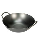 日本《極 PREMIUM》不易生鏽中華鍋 33cm (日本製造無塗層)