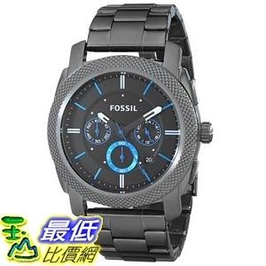 [美國直購] Fossil Men s FS4931 Machine Gunmetal-Tone Stainless Steel Bracelet Watch 男士手錶