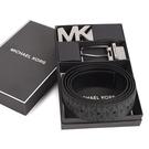 Michael Kors MK雙釦頭雙面用皮帶禮盒組(黑色)618151-1