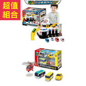 聖誕禮物 組合 TAYO 緊急救援中心+快速工具車4件組_TT72776+TT72731