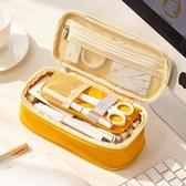韓版簡約女小學生筆袋初中生鉛筆盒日繫大容量帆布文具袋ins網紅 童趣屋