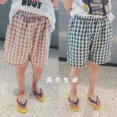 自制寬鬆格子短褲男童大pp五分夏褲新款夏裝休閒兒童薄款褲子歐歐流行館