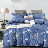BUTTERFLY-柔絲絨卡通枕套床包三件組-奇幻世界(加大)