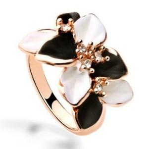 ►梔子花朵戒指 復古戒指 戒子指環【B2090】