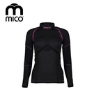 mico   女Primaloft無縫高領保暖衣1476 / 城市綠洲 (運動機能、登山、跑步、旅行、滑雪)