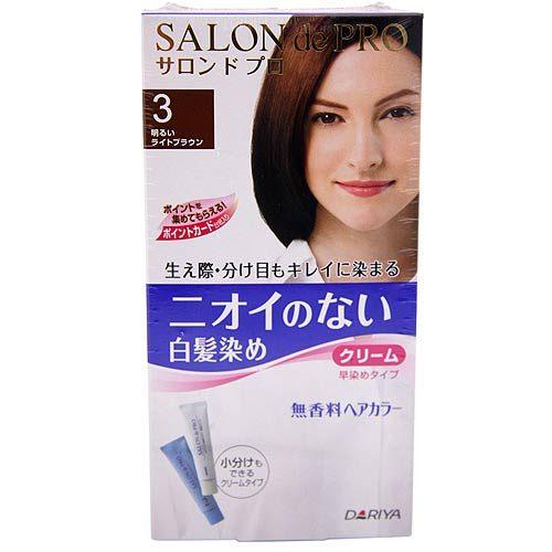 DARIYA 塔利雅 沙龍級染髮劑-無味型白髮染(明褐色3)【七三七香水精品坊】