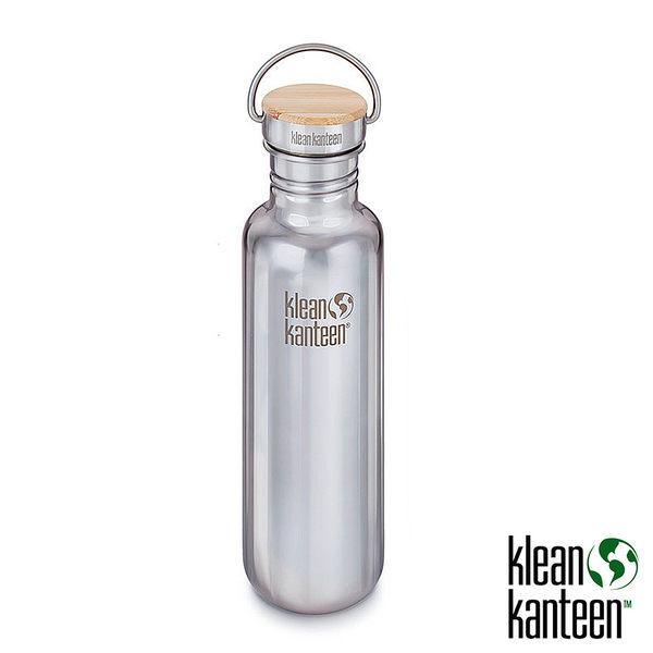 klean kanteen Reflect 27oz 竹片不鏽鋼瓶(44mm)『鏡面鋼』K27SSLRF 水壺│不鏽鋼水壺│運動水壺