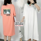 *MoDa.Q中大尺碼*【P0521】拼接小V領造型連身洋裝