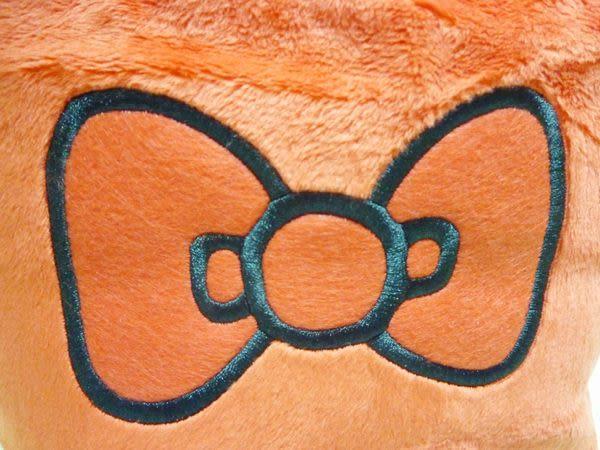 【震撼精品百貨】Hello Kitty 凱蒂貓~絨毛毛手提袋『點點/蝴蝶結』(共兩款)