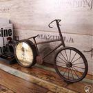 時鐘 復古腳踏車造型 自行車座鐘 鐵塔 ...
