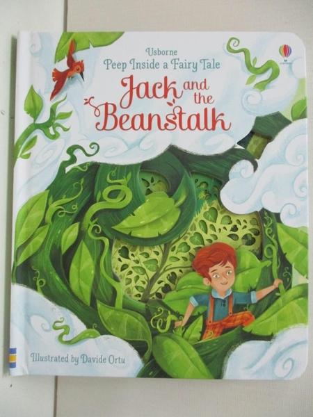 【書寶二手書T7/原文小說_DZD】Peep Inside A Fairy Tale: Jack And The Beanstalk_Anna Milbourne,Davide Ortu (ILT)