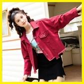 新款韓版牛仔外套女寬鬆學生bf蝙蝠袖春秋港風牛仔上衣潮 居享優品