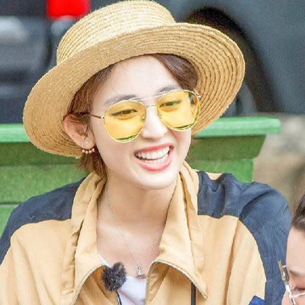 [超豐國際]花兒與少年娜扎同款墨鏡韓版海洋片眼鏡江疏影太陽眼1入