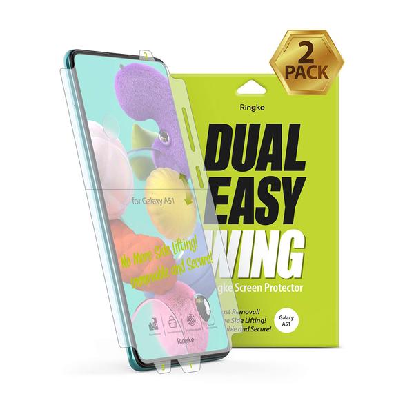 Rearth 三星 Galaxy A51 滿版抗衝擊螢幕保護貼(兩片裝)