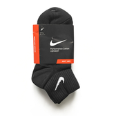 Nike Performance Cotton [SX3521-001] 男 短襪 運動 透氣 舒適 輕薄 3入 黑