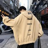 夾克連帽男士潮流秋季外套寬鬆衣服hiphop個性韓版男裝學生春秋款   印象家品旗艦店