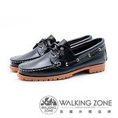 WALKING ZONE 經典款 帆船雷根鞋 女鞋 - 黑藍(另有咖啡)