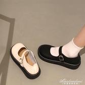 大頭鞋原宿風單鞋圓頭鞋娃娃鞋平底鞋森系復古文藝女鞋小清新女鞋 黛尼時尚精品