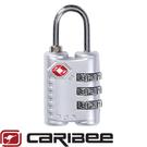 【Caribee 澳洲 TSA 密碼鎖《銀》】CE-1375/ 海關鎖/ 防盜鎖/ 安全鎖/ 三碼鎖