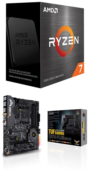 【自組DIY兩件組R58】AMD R7 5800X+華碩 TUF GAMING X570-PLUS WI-FI