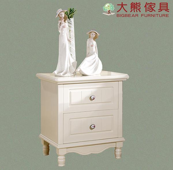 【大熊傢俱】杏之韓 BG800 韓式床頭櫃 歐式 床邊櫃 收納櫃 法式 置物櫃 另售床台 書桌