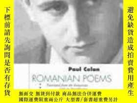 二手書博民逛書店Romanian罕見PoemsY364153 Paul Celan Green Integer 出版2003