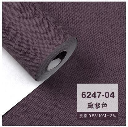 現代簡約素色純色粉色紫色灰色無紡布牆紙臥室客廳背景麻布紋壁紙