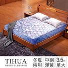 IHouse 經濟型 緹花硬式高碳鋼彈簧床墊-單大3.5x6.2尺