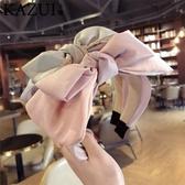 現貨 寬邊大蝴蝶結髮箍壓發淑女發卡髮飾韓國【步行者戶外生活館】