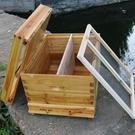 蜜蜂箱中蜂煮蠟標準十框全杉木蜂箱浸蠟高箱意蜂蜂箱全套養蜂工具 雙十二全館免運