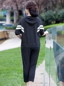 年輕媽媽中年女春秋裝上衣中老年休閒洋氣減齡運動套裝30歲40衛衣 新年特惠