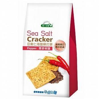 統一生機~亞麻仁海鹽蘇打餅-蕎麥椒鹽168公克/包